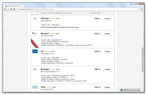 Na webu Porovnej24.cz si můžete pohodlně srovnat a sjednat cestovní pojištění.